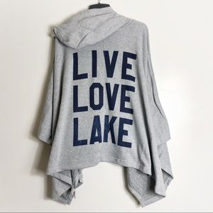 MV Sport LIVE LOVE LAKE Nautical Poncho Hoodie